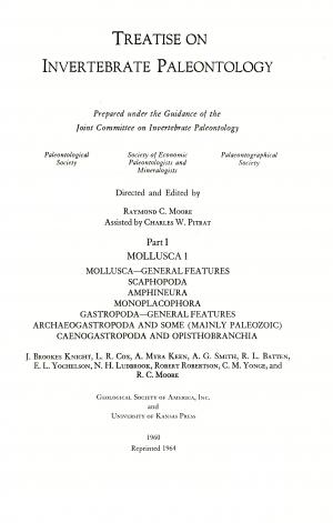 Treatise On Invertebrate Paleontology Part I Mollusca 1