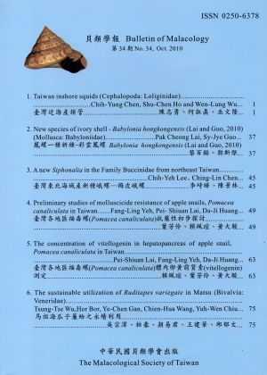 Bulletin Of Malacology The Malacological Society Taiwan